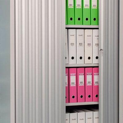 Канцелярские шкафы с роллетными дверьми