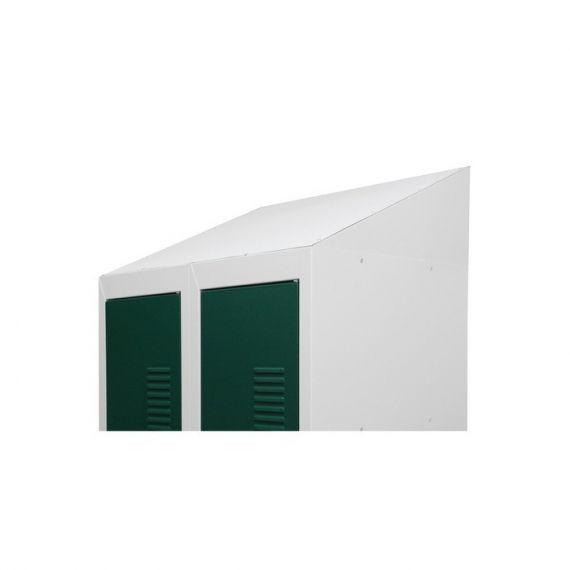 Крыша угловая для одежного металлического шкафа шириной 600мм